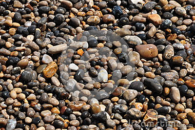 Wet pebble stone