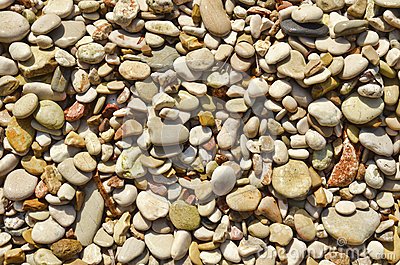Wet pebbles background