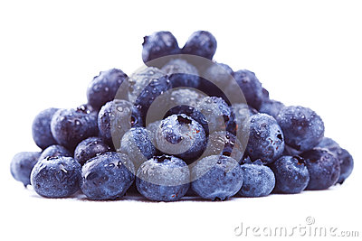 Wet pile of blueberry fruits