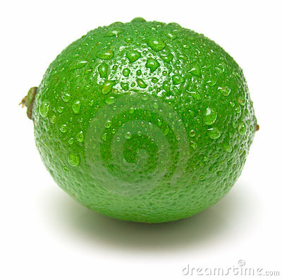 Free Wet Ripe Lime Royalty Free Stock Photo - 4863715