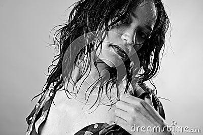 Wet sexy model