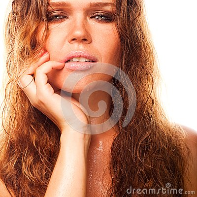 Wet sexy woman