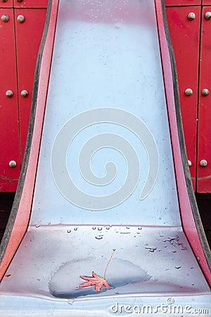 Wet slide after a storm