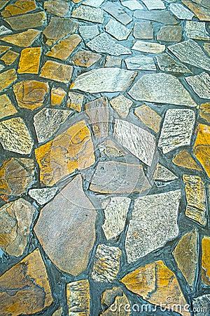 Wet stone path