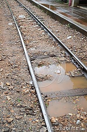 Wet train track
