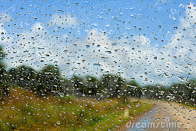 Wet Windshield