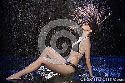 Wet women.