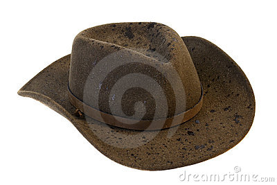 Wet wool felt cowboy hat