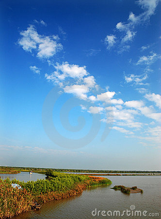 Free Wetlands And Blue Sky Stock Image - 12458461