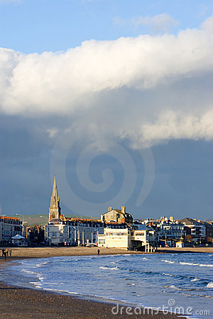 Free Weymouth Church In Southern England On A Sunny, Stormy Day Stock Images - 569584