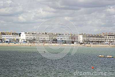 Weymouth Esplanade from the Sea
