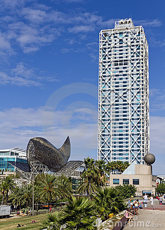 Whale Barcelona Spain Editorial Photo