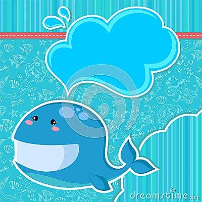 Whale card