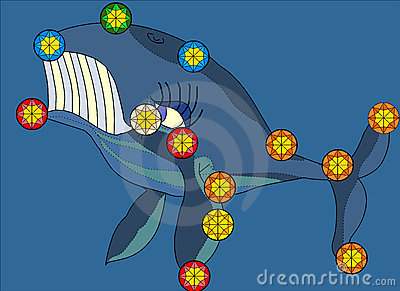 Whale Constellation Illustration