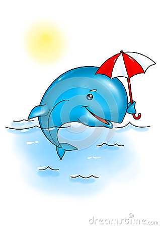 Whale rest cartoon