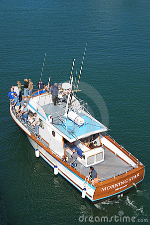 Whale watching boat Editorial Stock Image