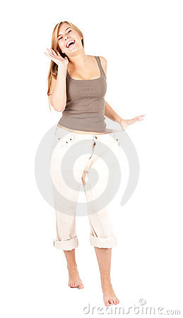 Whappy weight lost young woman
