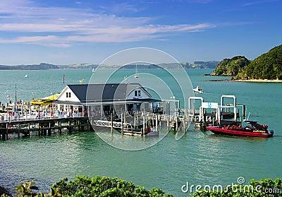 Wharf at Bay of Islands Editorial Image