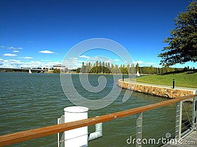 Wharf on a lake