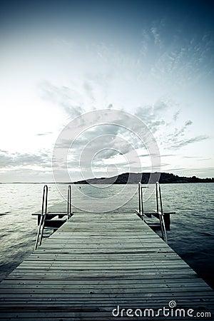 Free Wharf On A Lake Stock Image - 14734591