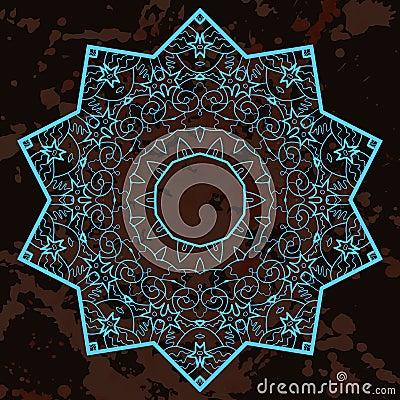 Oriental mandala motif. What is karma?