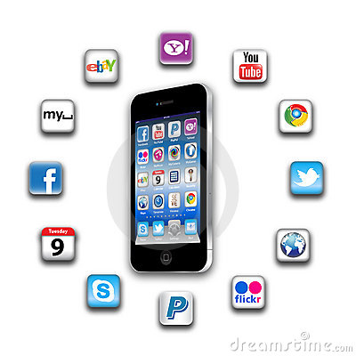 Free What S Apps Are On Your Mobile Network Today Stock Photo - 20589850
