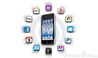 What s apps are on your mobile network today? Editorial Image