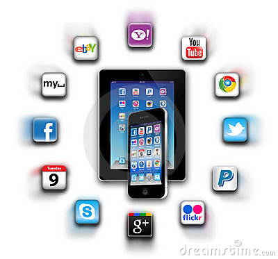What s apps are on your mobile network today? Editorial Photography