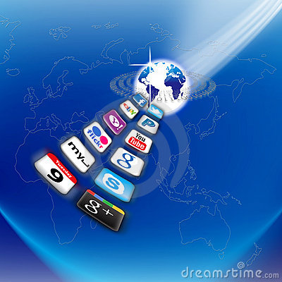 What s apps are on your mobile network today? Editorial Stock Photo
