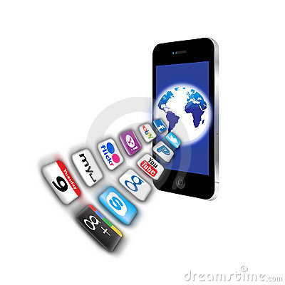 What s apps are on your mobile network today? Editorial Stock Image