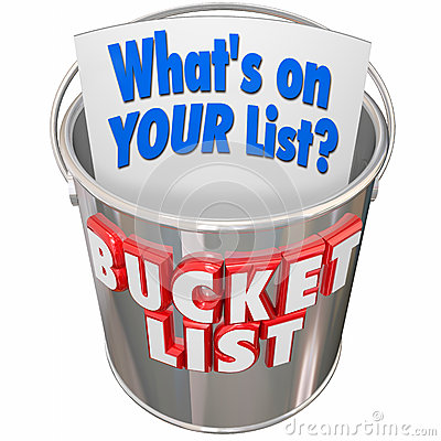 Free What S On Your Bucket List Things To Do Before You Die Stock Image - 53683981