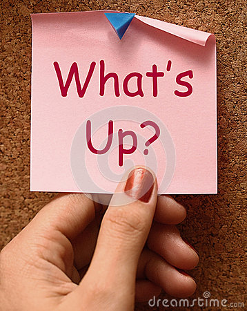 Free What S Up Note Means What Is Going On Royalty Free Stock Photo - 38122285
