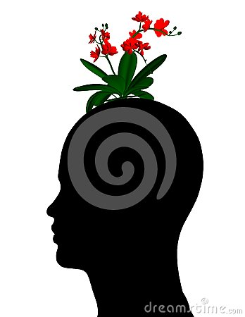 What s in your head - psychology and houghts abstract concept