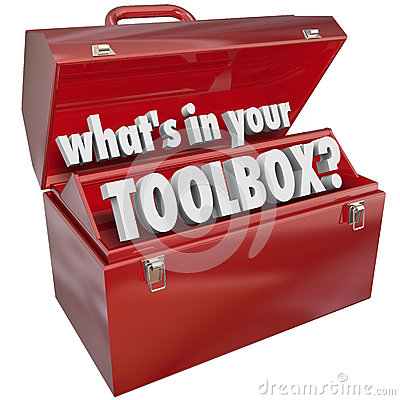 What s In Your Toolbox Red Metal Tool Box Skills Experience
