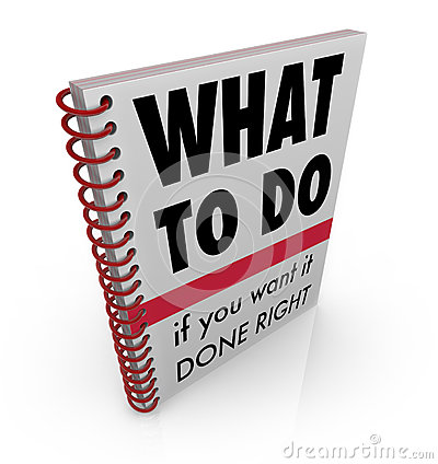 Free What To Do Book Manual Advice Instructions Royalty Free Stock Images - 31479489