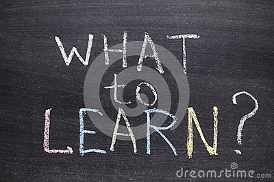 What to learn