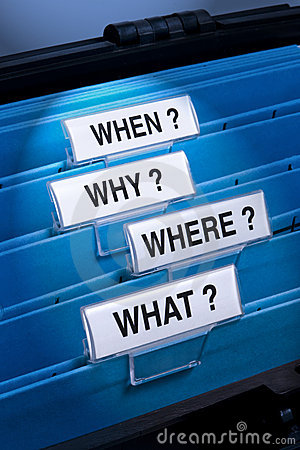 Free What Where Why When Questions Stock Photo - 10954980
