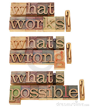 What works - questions collage
