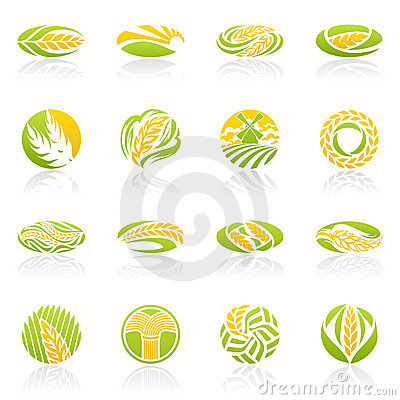 Free Wheat And Rye. Vector Logo Template Set. Royalty Free Stock Image - 21240836