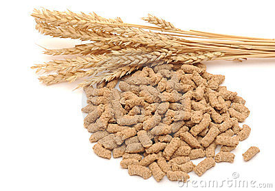 Wheat bran with ear