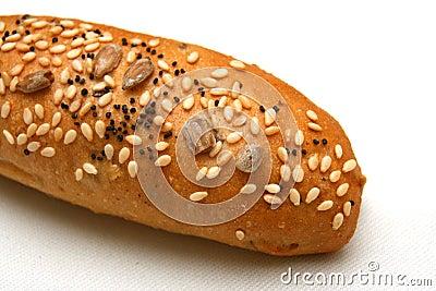 Wheat bread roll closeup