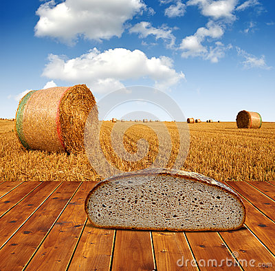 Wheat bread on the table