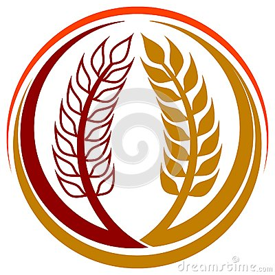 Wheat grains logo