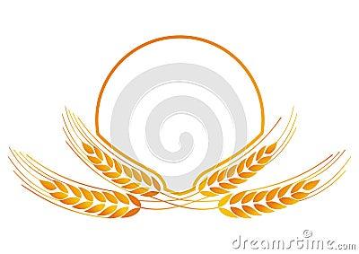 Wheat medallion for logo