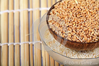 Wheat and rice bowls