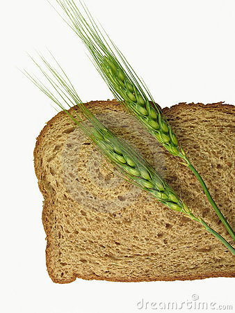 Free Wheat Spikes And Bread Slice Stock Images - 454254