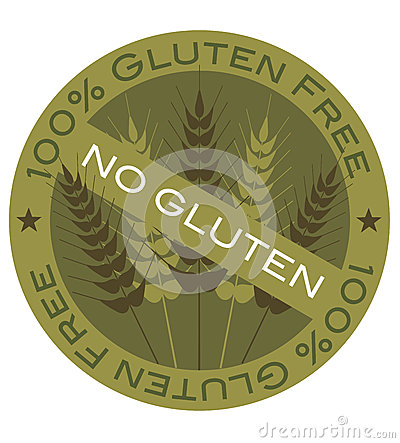 Wheat Stalk 100  Gluten Free Label