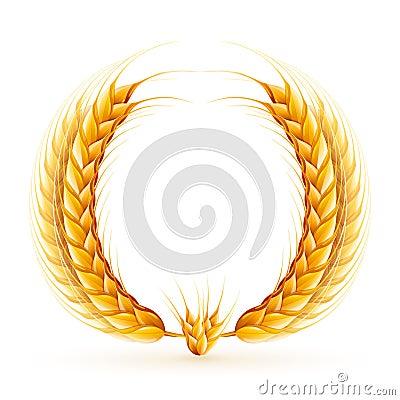 Wheat Wreath Stock Vector - Image: 40143683