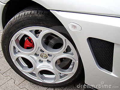 Wheel of Alfa Romeo GTV Editorial Image