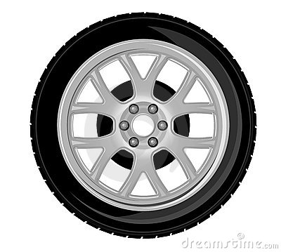 Free Wheel And Tire Royalty Free Stock Photography - 19510817
